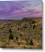 Long Winding Road In Central Oregon Metal Print