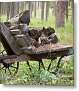 Long Winter Coming - Vintage Wheelbarrow - Casper Wyoming Metal Print