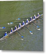 Longboat - Rowing On The Schuylkill River Metal Print