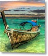Longboat Sunset Metal Print