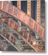 Longfellow Bridge Arches IIi Metal Print