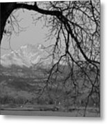 Longs Peak And Mt. Meeker The Twin Peaks Black And White Photo I Metal Print by James BO  Insogna