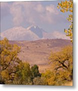 Longs Peak Diamond Autumn Shadow Metal Print