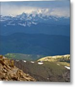 Longs Peak From Mount Evans Colorado Metal Print