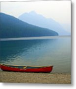 Lonly Canoe Metal Print