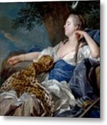 Loo, Louis-michel Van Tolon, 1707 - Paris, 1771 Diana In A Landscape 1739 Metal Print