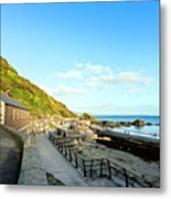 Looe Boathouse Metal Print