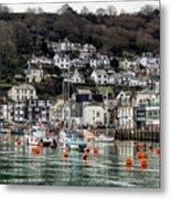 Looe Harbour - Cornwall Metal Print