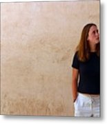 Looking Around At The Sights Metal Print