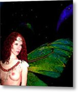 Looking Away Metal Print