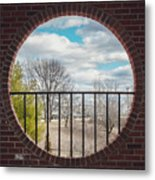 Looking Brick Metal Print