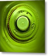Looking Deep Into The Bottle Metal Print