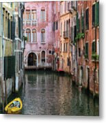 Looking Down A Venice Canal Metal Print