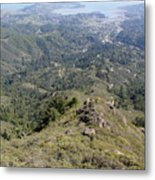 Looking Down From The Top Of Mount Tamalpais Metal Print