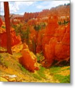 Looking Down In Bryce Metal Print