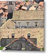 Looking Down On Old Dubrovnik Metal Print