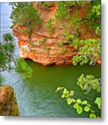 Looking Down On The Caves Metal Print