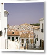 Looking Down Over Antequera  From Near The Church Of Santa Maria La Mayor  Metal Print