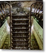 Looking Down The Stairs - Urban Exploration Metal Print