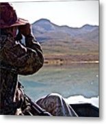 Looking For Musk Ox In Greenland Metal Print