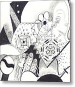 Looking For The Universe In A Grain Of Sand Metal Print