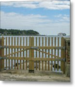 Looking From Brownsea Towards Sandbanks And Shell Bay Metal Print