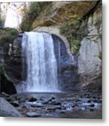 Looking Glass Falls Metal Print