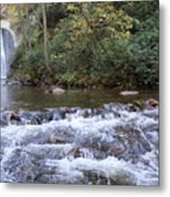 Looking Glass Falls Downstream Metal Print