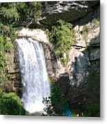 Looking Glass Falls Nc Metal Print