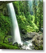 Looking Out From Under North Falls Metal Print