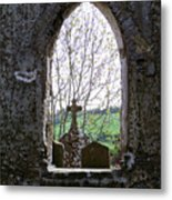 Looking Out Fuerty Church Roscommon Ireland Metal Print