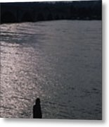 Looking Out Over A Flooded Potomac Metal Print by Stacy Gold