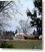 Looking Out Over The Horse Farm Metal Print