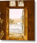Looking Out To The Hudson River Metal Print