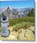 Looking Panorama At Glacier Point Metal Print
