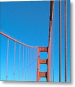 Looking The Sky Through The Bridge Metal Print