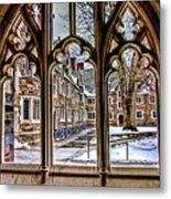 Looking Through An Arched Window At Princeton University At The Courtyard Metal Print
