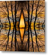 Looking Through The Trees Abstract Fine Art Metal Print