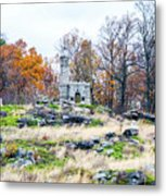 Looking Towards The Top Of Little Round Top Metal Print