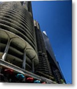 Looking Up At Chicago's Marina Towers Metal Print