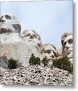 Looking Up At Mount Rushmore National Monument South Dakota Metal Print