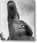 Looking Up At T-rex Metal Print
