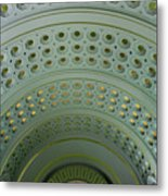 Looking Up In Union Station -- A Westward View Metal Print