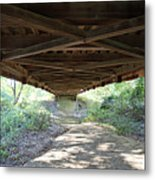 Looking Up Nevins Bridge Indiana Metal Print