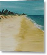 Looking Up The Beach Metal Print