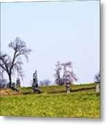 Looking Up The Union Line Metal Print