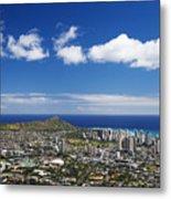 Lookout View Of Honolulu Metal Print