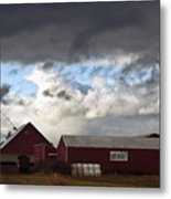 Looming Storm In Sumas Washington Metal Print