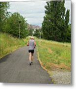 Loop Trail Runner Metal Print