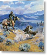 Loops And Swift Horses Are Surer Than Lead Metal Print